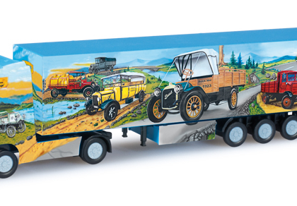 "Scania R TL box semitrailer ""Herpa Weltgeschichte Nr. 8"" - Herpa 066167"