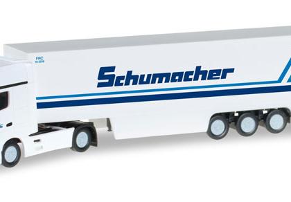 Schumacher Sedition Mercedes Benz Actros Gigaspace box semitrailer - Herpa 066501