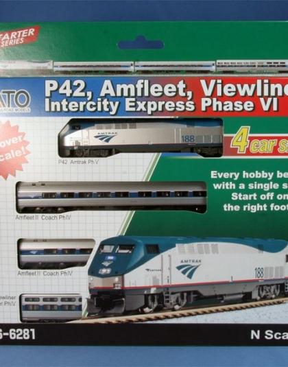 Amfleet Viewliner 4 Car Intercity Express Ph VI GE P42 - Kato (USA) 106-6281