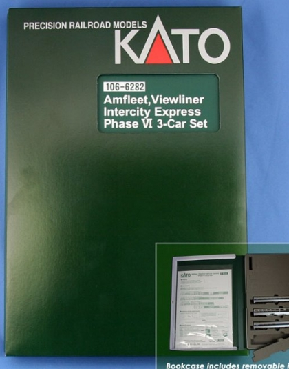 Amfleet, Viewliner Intercity Express Phase VI 3-Car Set - Kato 106-682