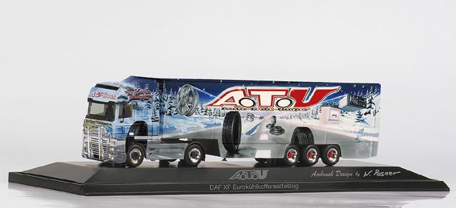 """ATU DAF XF SSC refrigerated box trailer """"ATU"""" Herpa 120234 1"""