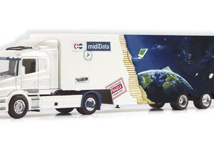 "Scania conventional box semitrailer ""Girr"" Herpa 120265"