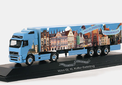 "Volvo FH XL box semitailer ""Mecklenburg West-Pommerania "" Herpa 120272"