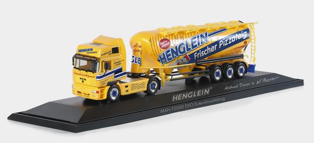 Henglein MAN F2000 Evo bulk silo semitrailer  PC Herpa 120500 1