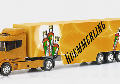 """Scania conventional box semitrailer """"Kuemmerling"""" Herpa 149532"""