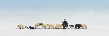 Shepherd & 10 Sheep - Noch 15750