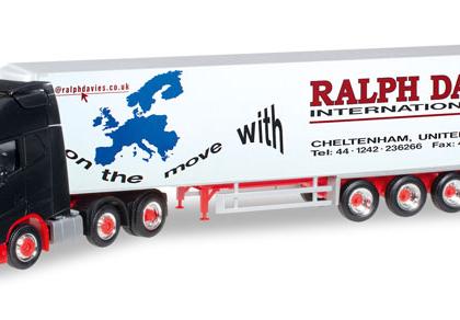 Ralph Davies Volvo FH GL XL refrigerated box semitrailer (GB) - Herpa 305778