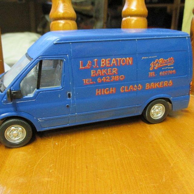 L & J Beaton  GJ Ross Bakers Transit Van – REPAINT Britains model 1