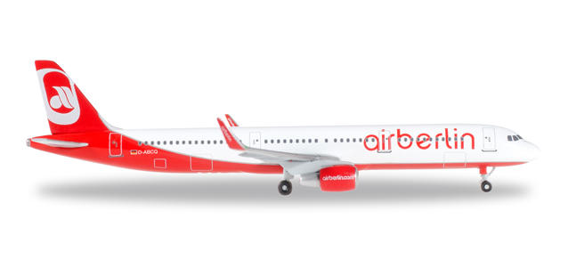 Air Berlin A321 with winglets - Herpa 528443-001