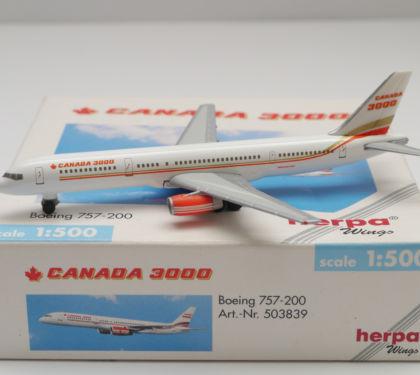 Canada 3000 Boeing 757-200 - Herpa 503839