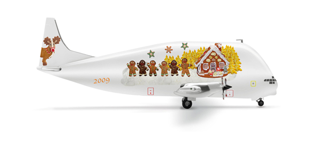 "Aero Spacelines 377-SGT Super Guppy ""Christmas 2009"" - Herpa 506922"