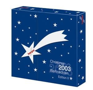 Advent calendar 2003 contains DC3 Austrian, 767 Air Pacific, Germania 737, Air India 707 - 510660