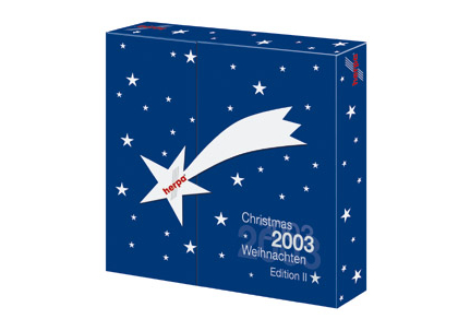 Advent calendar 2003 contains DC3 Austrian, 767 Air Pacific, Germania 737, Air India 707 - 510660