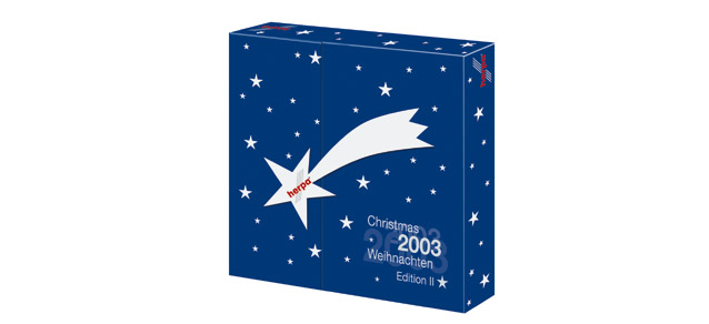 Advent calendar 2003 contains DC3 Austrian, 767 Air Pacific, Germania 737, Air India 707 – 510660 1