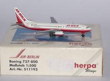 Air Berlin Boeing 737-800 - Herpa 511193