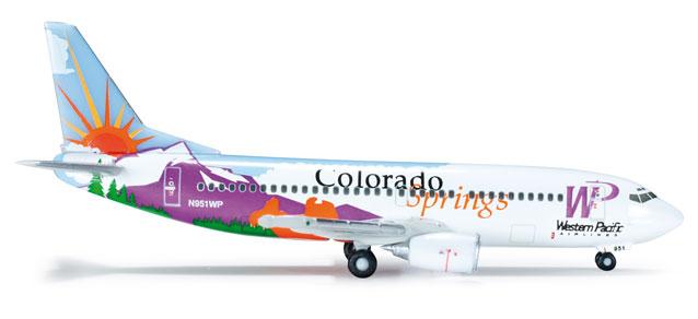 """Western Pacific Boeing 737-300 """"Colorado Springs"""" - Herpa 519151"""