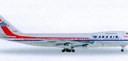 Wardair Boeing 747-100 - Herpa Wings Club Model 528382