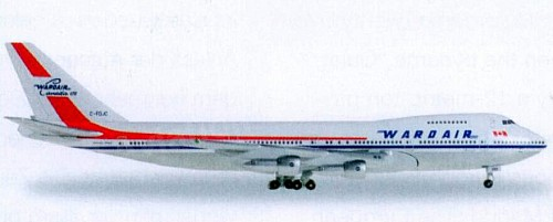 Wardair Boeing 747-100 - Herpa Wings Club Model 528382