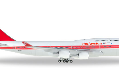 Malaysia Airlines Boeing 747-400 - Retro colours  - Herpa  529679