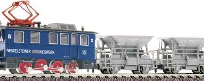 Wedelsteiner Kieswork set Rack loco plus 2 hopper wagons -  Fleischmann 781283.  DCC Fitted.  N Gauge