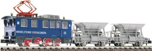 Wedelsteiner Kieswork set Rack loco plus 2 hopper wagons -  Fleischmann 781283.  DCC Fitted.  N Gauge