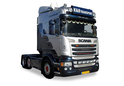 K&B Transport B V Maasland Holland Scania unit plus Container Trailer - Tekno 80467538