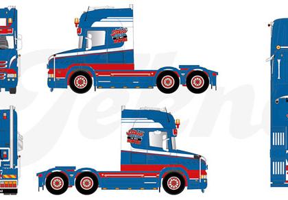 """Scania Hauber TL 6x4 rigid tractor """"Tekno Event 2016"""" TEKNO/HERPA 80469290"""