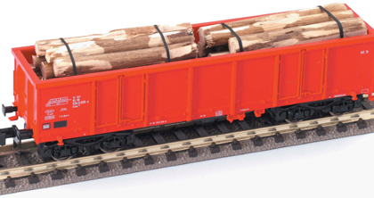 DBAG GONDOLA WITH STRAPPED TIMBER LOAD - Fleischmann 82928702