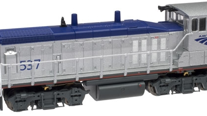 "Amtrak (Blue/Silver ""Phase V"")  EMD MP15DC, #531 - Atlas N 52299"