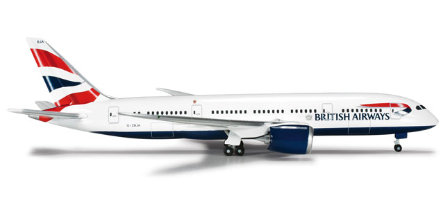 British Airways Boeing 787-8 Dreamliner -  Herpa 524698
