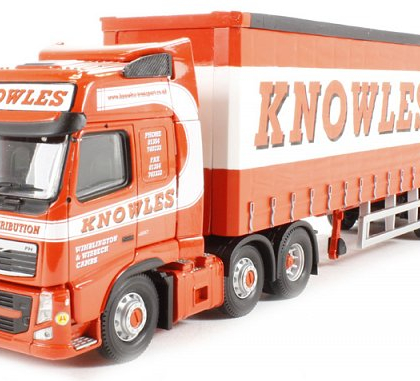 Knowles Transport Ltd, March, Cambridgeshire Volvo FH  Curtainside Trailer - Corgi Collectables CC14034