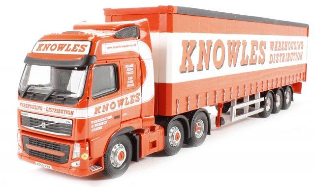 Knowles Transport Ltd, March, Cambridgeshire Volvo FH  Curtainside Trailer – Corgi Collectables CC14034 1