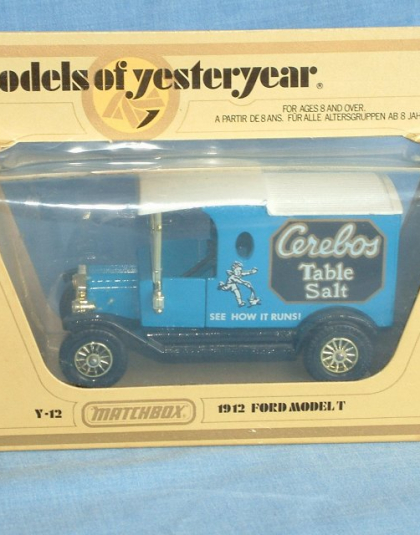 Matchbox Models of Yesteryear Ford Model T Van Cerebos Table Salt released in 1982.