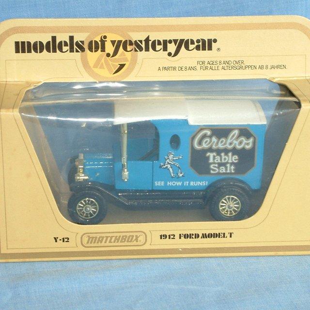 Matchbox Models of Yesteryear Ford Model T Van Cerebos Table Salt released in 1982