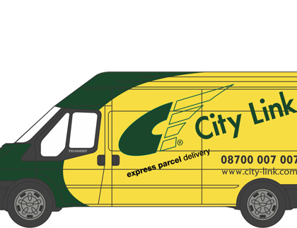 City Link Ford Transit LWB High Roof -Oxford Diecast - 76FT025