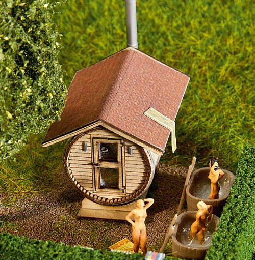 Sauna in Barrel-style Building Kit VI – Faller 180607 1
