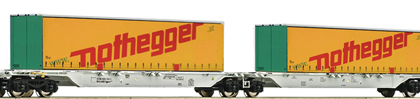 AAE Nothegger Container Wagon Set (2) VI - Fleischmann 825324 N Gauge