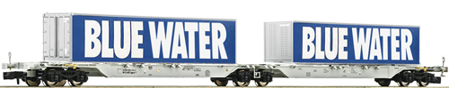 AAE Sggmrs Blue Water Double Container Wagon VI - Fleischmann 825326  E Shop item