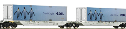 AAE Sggmrs ekol Penguin Double Container Wagon VI - Fleischmann 825330  E Shop item