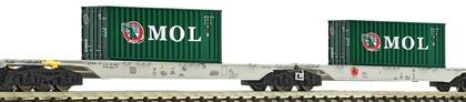 AAE Sggmrs Double MOL Container Wagon - Fleischmann 825333