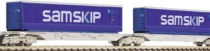 AAE Sggmrs Samskip Double Container Wagon V - Fleischmann 825335  N Gauge