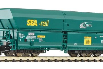 SNCB Sea Rail Side Discharge Hopper Wagon V - Fleischmann 852324 Start