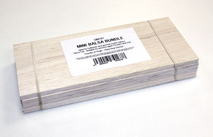 Balsa Wood - Mini Bundle (50 x 76 x 229mm)