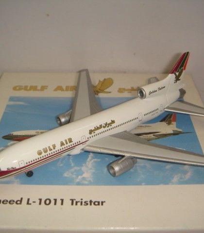 Gulf Air Lockheed L-1011 Tristar Herpa model  for Gulf inflight sales