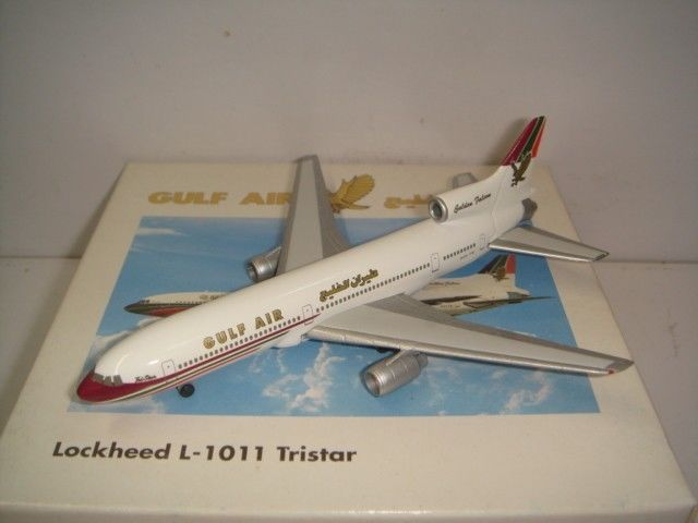 Gulf Air Lockheed L-1011 Tristar Herpa model  for Gulf inflight sales