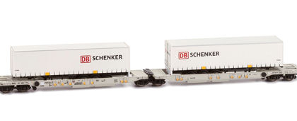 DB Shenker double container wagon - Hobbytrain (by Lemke) H23754