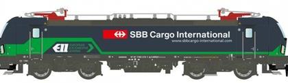 Vectron ELL SBB Cargo Electric Locomotive VI - Hobbytrain (by Lemke) H2972  N Gauge New Full Guarantee