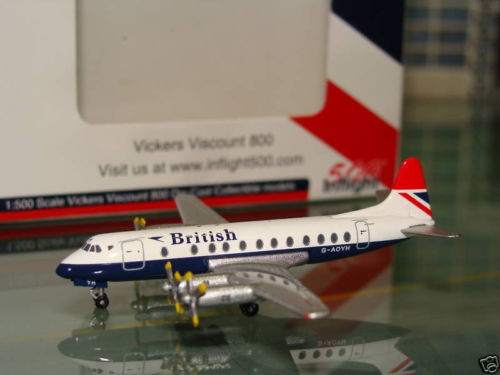 British Vickers Viscount 800 G-AOYH - Inflight 500 - IF5801010