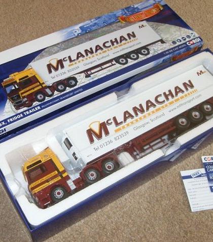 McLanachan Transport Ltd MAN Fridge Trailer Die-Cast 1:50 Model  - Corgi CC15212