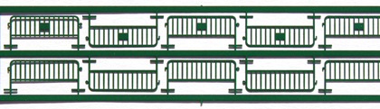 Set 10 fences works - Green - MF Train N83026